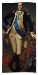 George Washington Beach Towel by Charles Wilson Peale