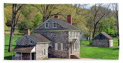 George Washington Headquarters At Valley Forge Beach Towel