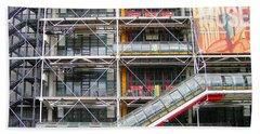 Georges Pompidou Centre Beach Towel