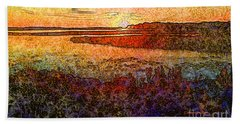 Georgian Bay Sunset Beach Towel