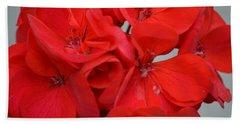 Geranium Red Beach Towel