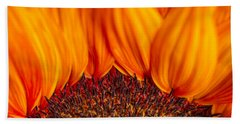 Beach Towel featuring the photograph Gerbera On Fire by Adam Romanowicz