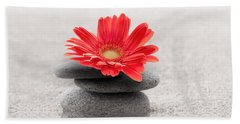Gerbera Reflection Beach Towel