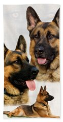 German Shepherd Collage Beach Towel