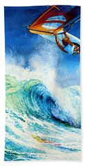 Beach Towel featuring the painting Getting Air by Hanne Lore Koehler