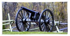 Beach Towel featuring the photograph Gettysburg Battlefield Cannon by Patti Whitten