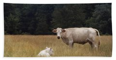 Ghost Cow And Calf Beach Towel