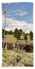 Beach Towel featuring the photograph Ghost Town In Summer by Sue Smith