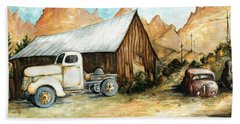 Ghost Town Nevada - Western Art Painting Beach Towel