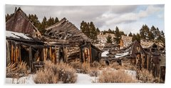 Beach Towel featuring the photograph Ghost Town by Sue Smith