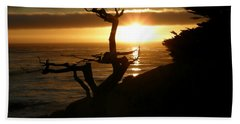 Ghost Tree At Sunset Beach Towel