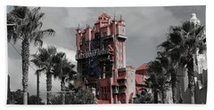 Ghostly At The Tower Beach Towel