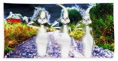 Beach Sheet featuring the digital art Ghosts by Daniel Janda