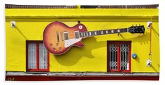 Giant Gibson Les Paul Beach Towel