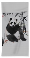 Giant Panda Beach Towel by Yufeng Wang