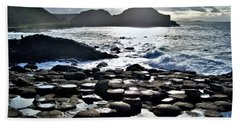 Giant's Causeway Sunset Beach Towel