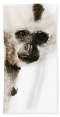 Crested Gibbon #1 Beach Towel