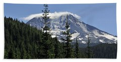 Gifford Pinchot National Forest And Mt. Adams Beach Towel by Tikvah's Hope
