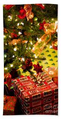 Gifts Under Christmas Tree Beach Towel