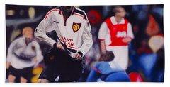 Giggs Goal V Arsenal Oil On Canvas Beach Towel