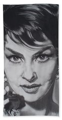 Gina Lollobrigida Beach Towel by Sean Connolly