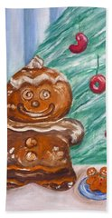 Gingerbread Cookies Beach Towel by Victoria Lakes