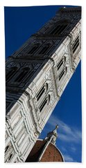Giotto Fantastic Campanile - Florence Cathedral - Piazza Del Duomo - Italy Beach Towel