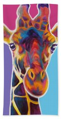 Giraffe - Marius Beach Towel by Alicia VanNoy Call