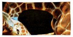 Giraffe 20150211brun Square Beach Towel
