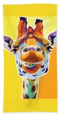 Giraffe - Sunflower Beach Towel