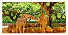 Giraffes Beach Sheet