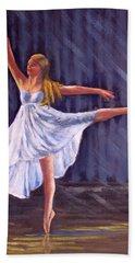 Girl Ballet Dancing Beach Towel