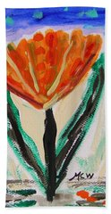 Girl-flowers From The Flower Patch Beach Towel by Mary Carol Williams