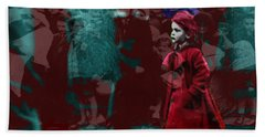 Girl In The Blood-stained Coat Beach Sheet by Seth Weaver