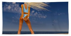 Girl On The Beach... Beach Towel by Tim Fillingim