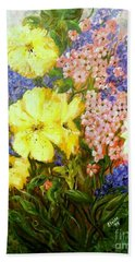 Beach Towel featuring the painting Give Me Serenity by Eloise Schneider
