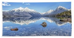 Glacial Lake Mcdonald Beach Towel