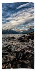 Glacier Whispers Beach Sheet by Aaron Aldrich