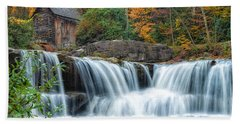 Glade Creek Grist Mill And Waterfalls Beach Towel
