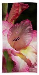 Gladiolus In Pink Beach Sheet by Joy Watson