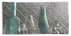 Glass Bottles 2 Beach Sheet
