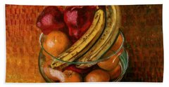 Glass Bowl Of Fruit Beach Towel by Sean Connolly