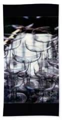 Beach Sheet featuring the photograph New Orleans Toast To The New Year 2017 Abstract by Michael Hoard