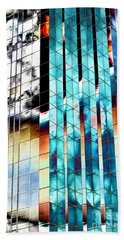Beach Towel featuring the photograph Glass House by Christiane Hellner-OBrien