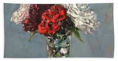 Glass Of Flowers Beach Towel