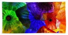 Glass Palette Beach Towel by Kasia Bitner