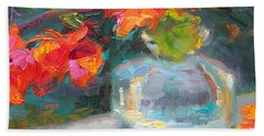 Gleaning Light Nasturtium Still Life Beach Towel
