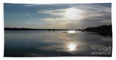Glenmore Reservoir Calm Beach Towel by Stuart Turnbull
