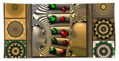 Glimmering Afternoon Redux Beach Towel