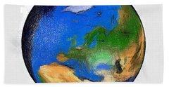 Globe 3d Picture Beach Sheet by Georgi Dimitrov